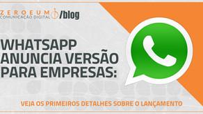WhatsApp anuncia versão para empresas