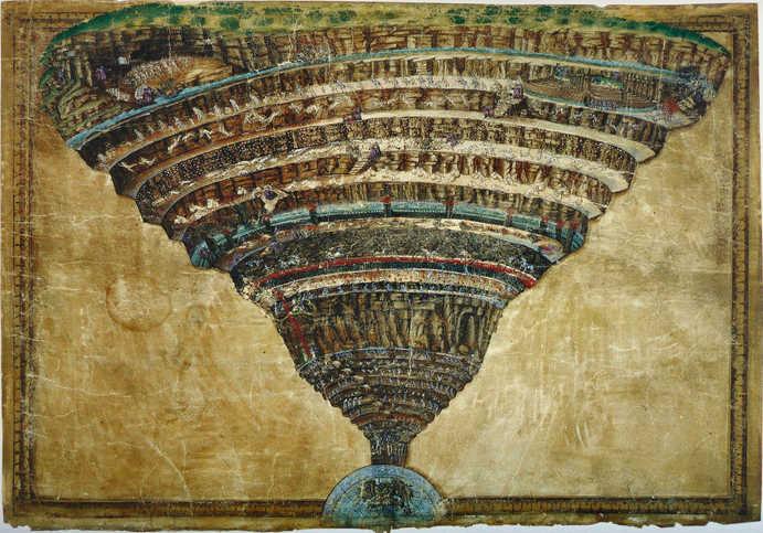 3.-El-Infierno-visto-por-Botticelli-1480