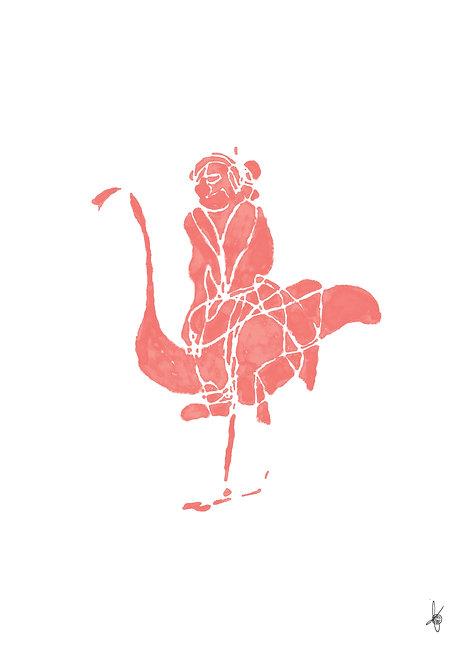 Miss Flamingo, Artwork Poster