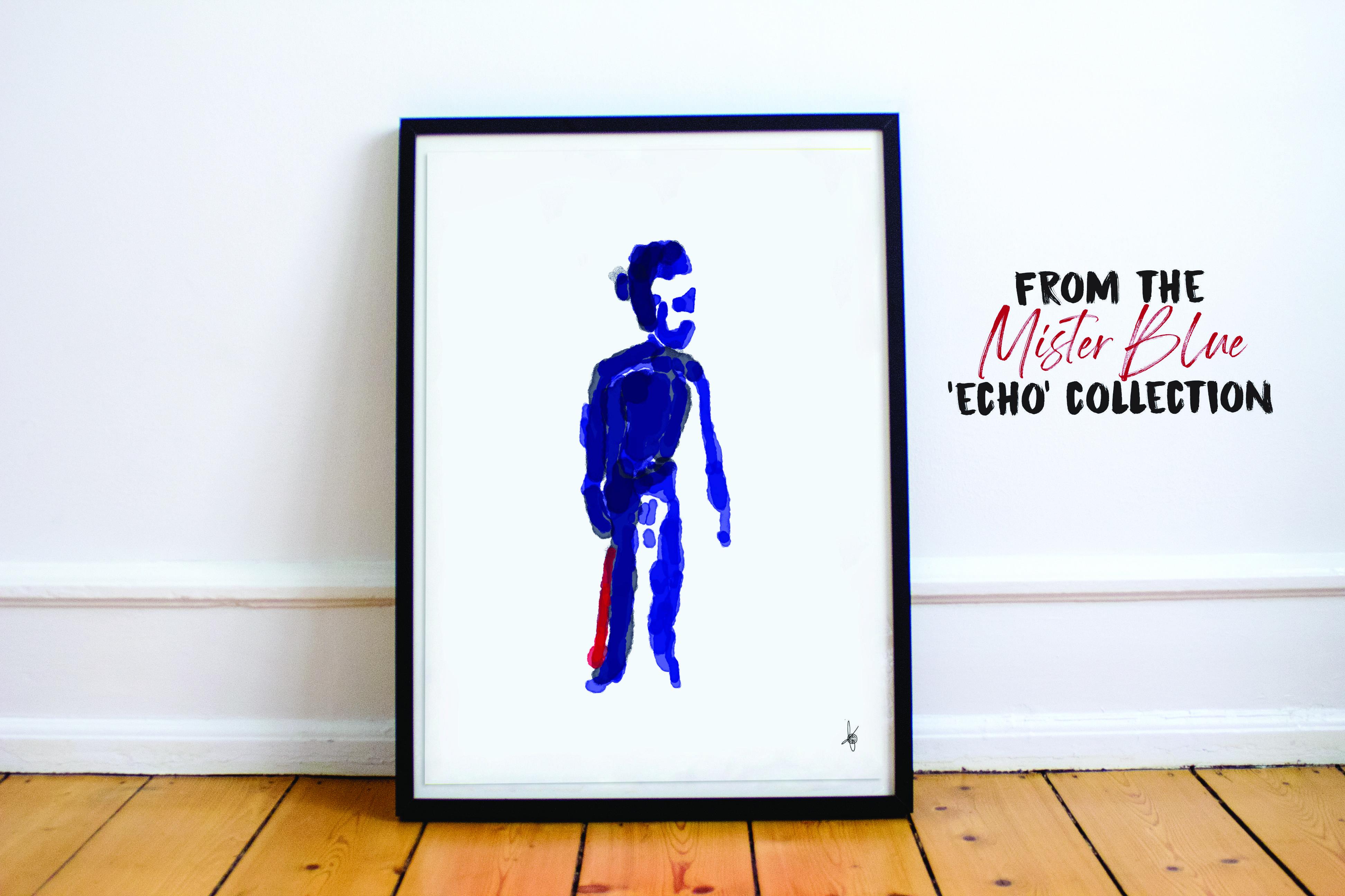 Mister Blue art poster