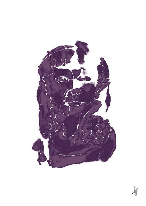 Face Purple, Artwork Poster