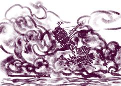 De USS Arizona (BB-39) brandt na de Japanse aanval op Pearl Harbor.