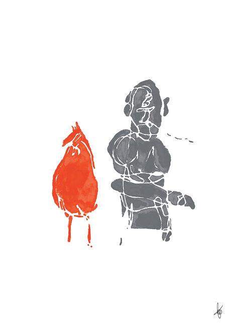 With the Orange Chicken, Artwork Poster