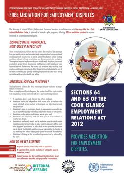 [Media Release - INTAFF] Tauranga Aka 'Au - Cook Islands Mediation Centre