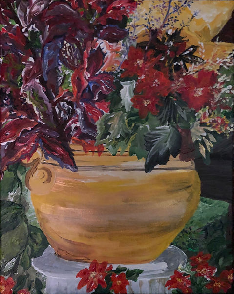 Schlage Pot of Flowers by the Pool.jpg