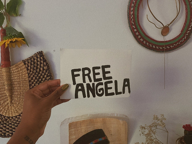 FREE ANGELA - print