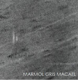 el gris macael es un mrmol calctico de color gris con un veteado rectilneo de color gris ms oscuro compacto de grano de tamao medio