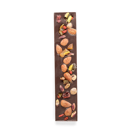 Dark Chocolate Bar with Dried Fruits & Nuts 120g