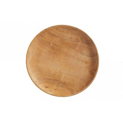 Handmade Wooden Plate Ø: 26