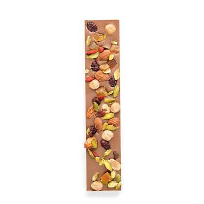 Milk Chocolate Bar with Dried Fruits & Nuts 120g