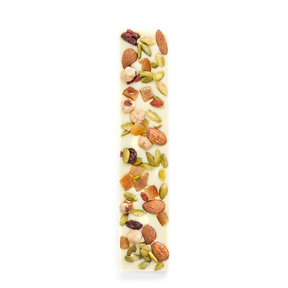 White Chocolate Bar with Dried Fruits & Nuts 120g