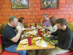 The Jones Family Enjoying our Food