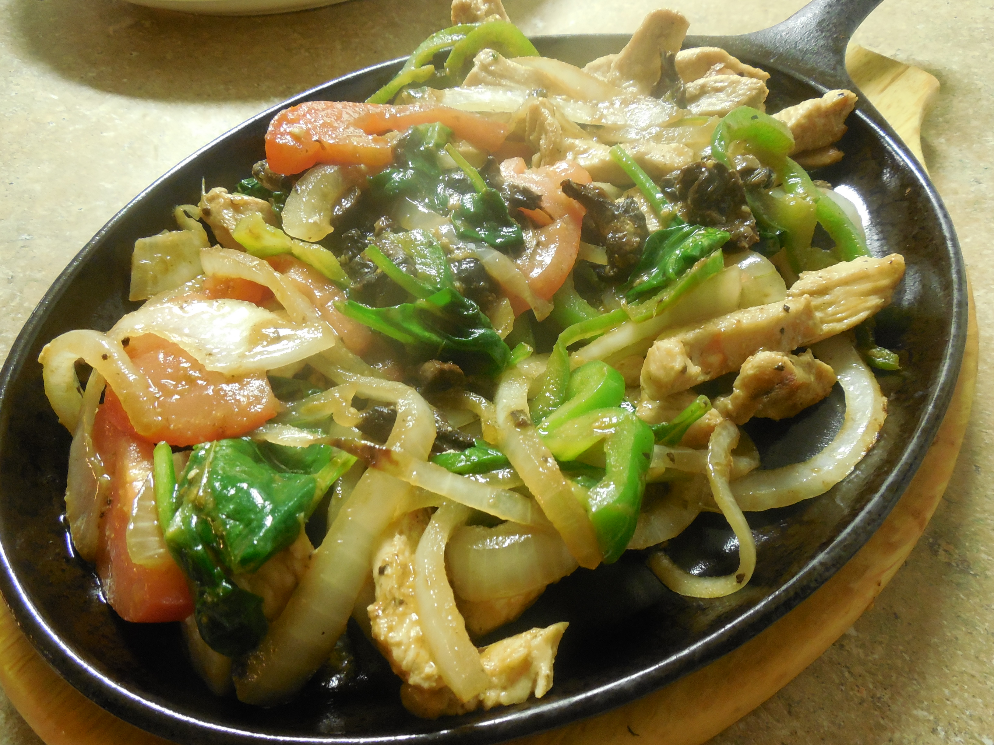 Special Vegetable & Chicken Fajita