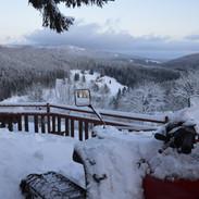 Pohled ze zimní terasy