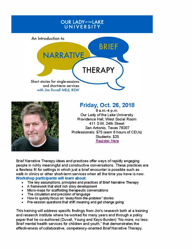 Training on Brief Narrative Therapy
