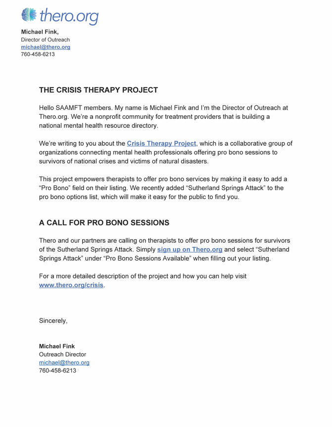 Crisis Therapy Project