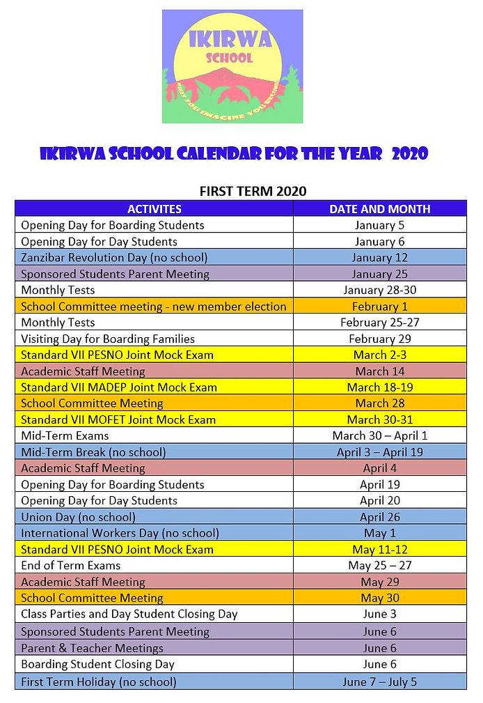 Calendar First Term 2020.JPG