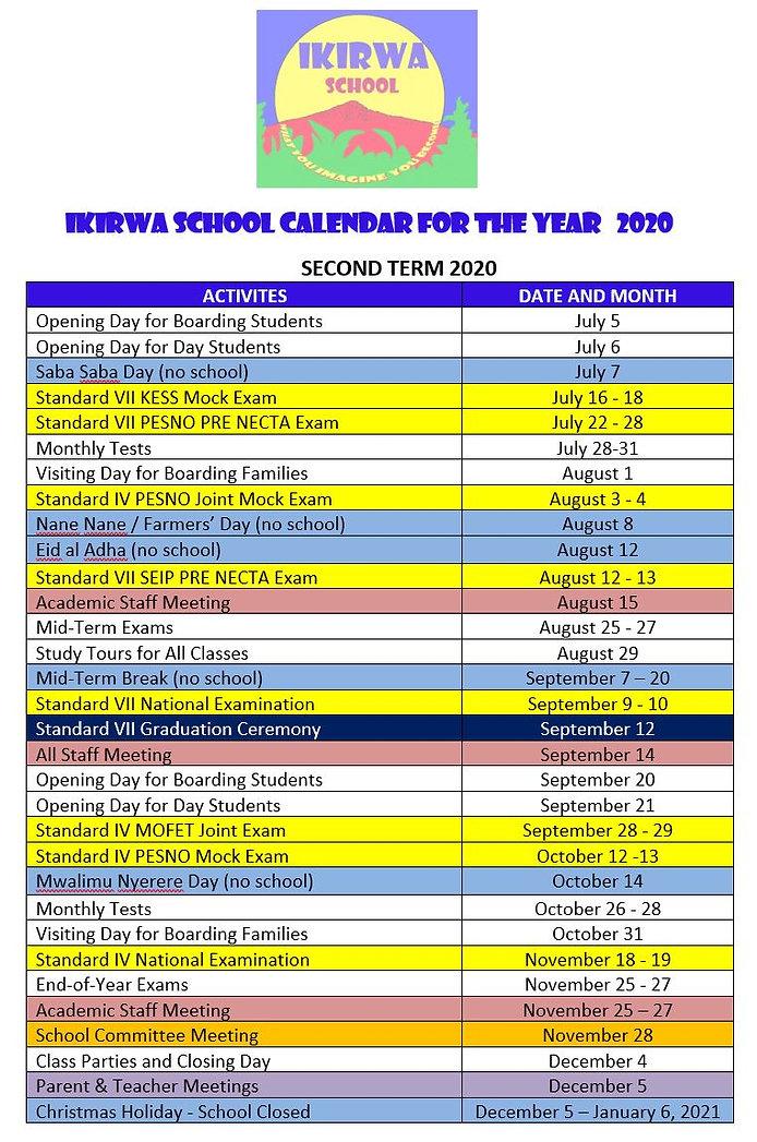 Calendar Second Term 2020.JPG