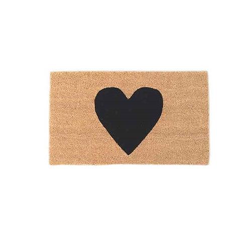 שטיח סף כניסה לבית או לבניין לב שחור