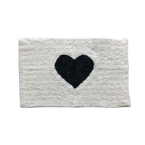 שטיח שיקי לב שחור