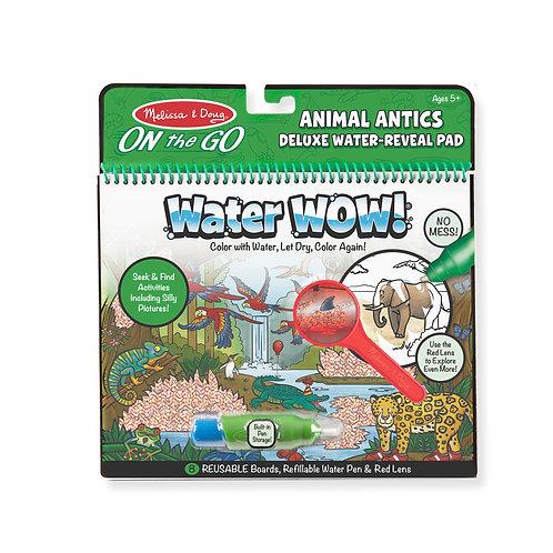 חוברת טוש מים מהודרת חיות בר וטבע