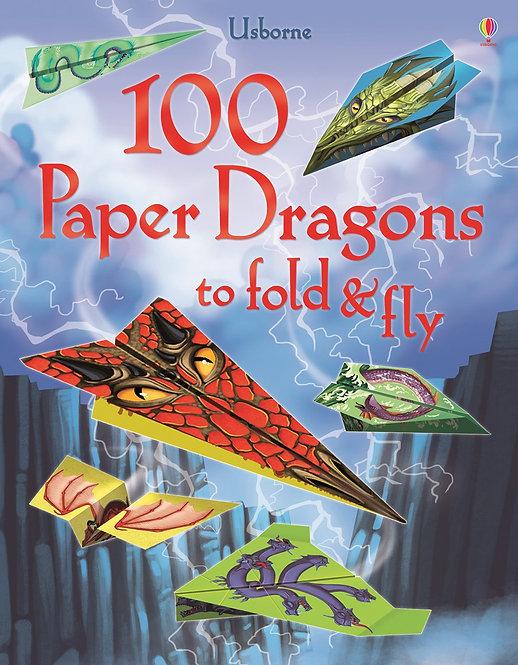 100 מטוסי נייר - דרקונים Usborne