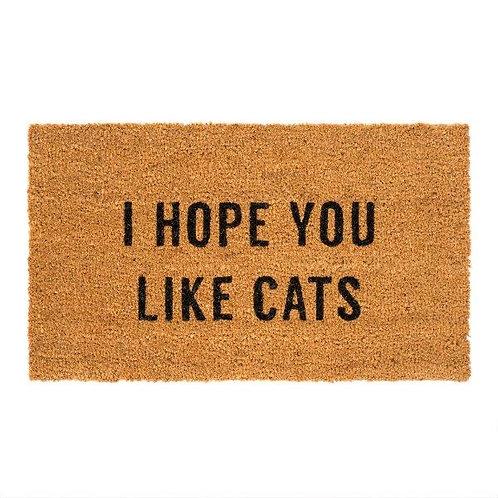 שטיח סף כניסה לבית או לבניין I HOPE YOU LIKE CATS