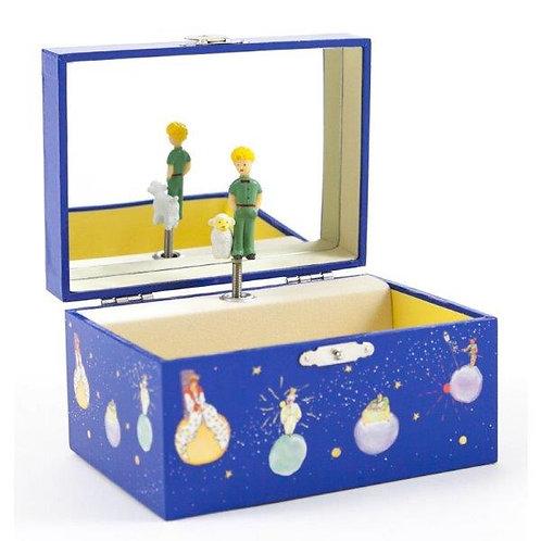 תיבת תכשיטים מנגנת - הנסיך הקטן כחול