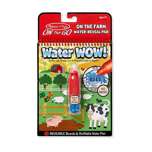 חוברת טוש מים חיות חווה
