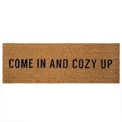 שטיח סף כניסה לבית או לבניין COME IN AND COZY UP