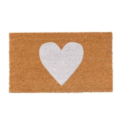 שטיח סף כניסה לבית או לבניין לב לבן