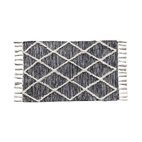 שטיח שיקי מעויינים שחור