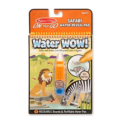 חוברת טוש מים חיות ספארי