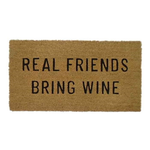 שטיח סף Real Friends Bring Wine