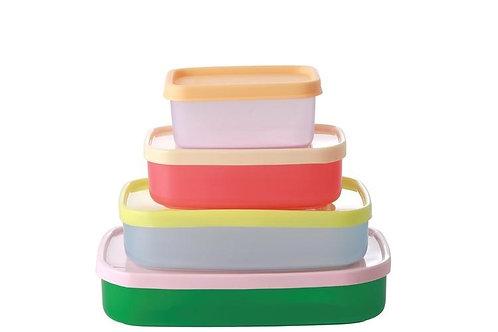 סט ארבע קופסאות צבעוניות במידות שונות