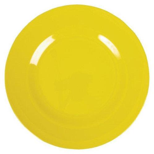 צלחת מלמין מנה עיקרית גדולה צהובה RICE