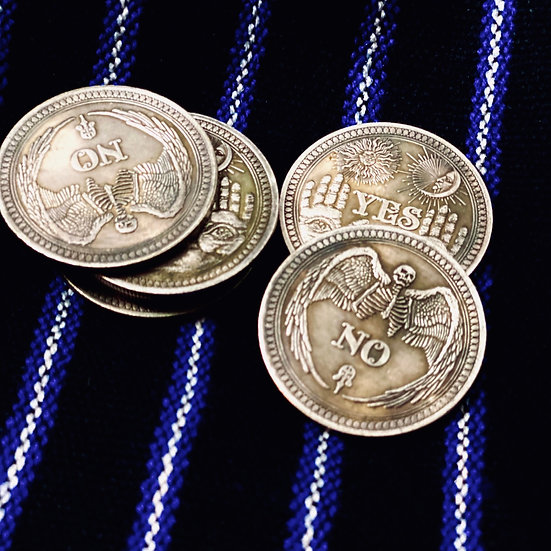 Yes/No divinaiton coin