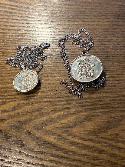Tetragrammaton obsidian medal