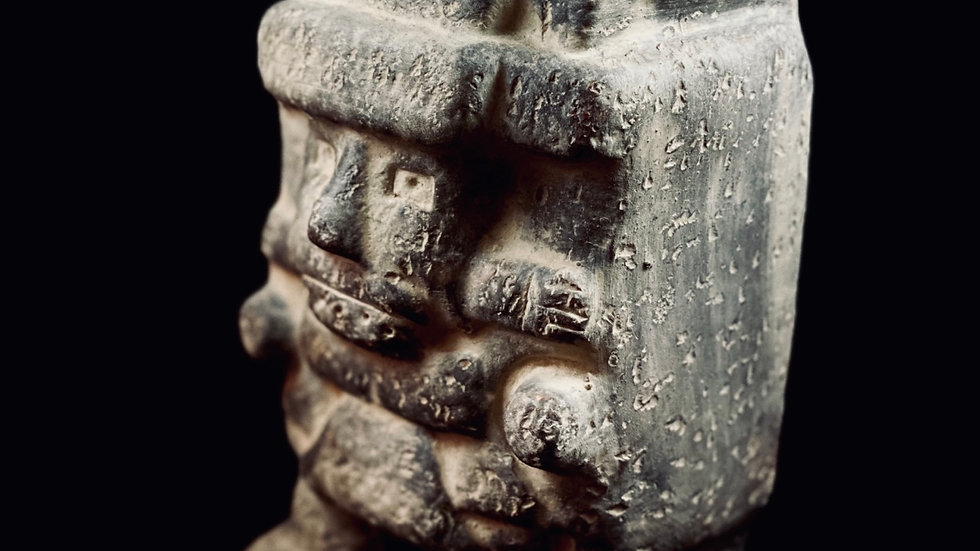 Clay statue Tlaloc - Aztec God  of Rain