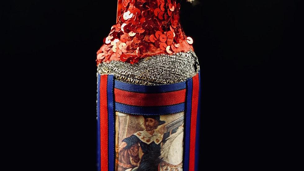 Haitian Vodou rum boutey - spirit bottle for Ogou