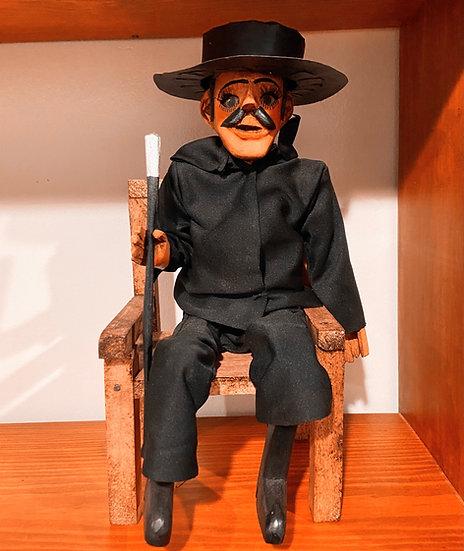 Wooden San Simon Figure