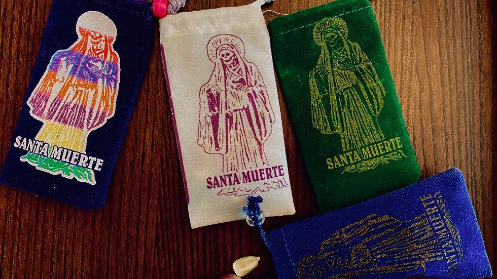 Santa Muerte Corn Divinaiton bags