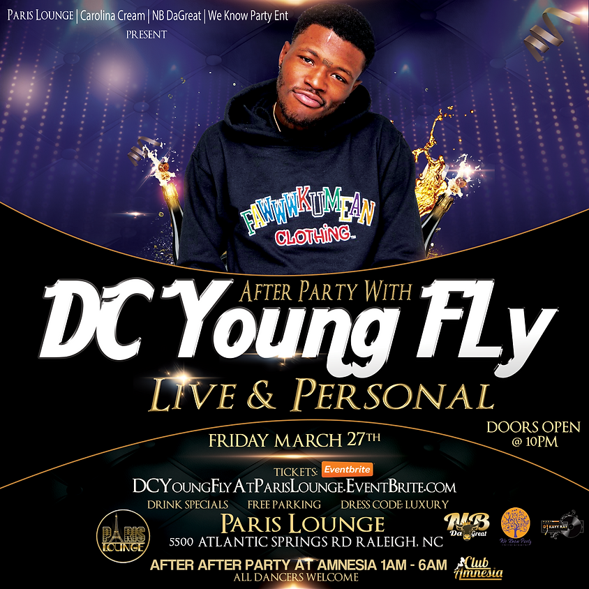 *POSTPONED* DCyoungfly live close in person at Paris Lounge
