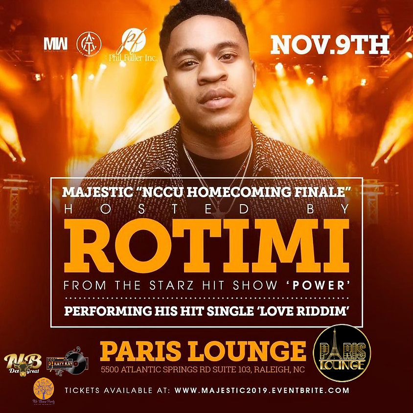 Majestic :: NCCU Homecoming Finale Hosted by: ROTIMI FROM POWER