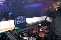 DJ NB at a Night Club