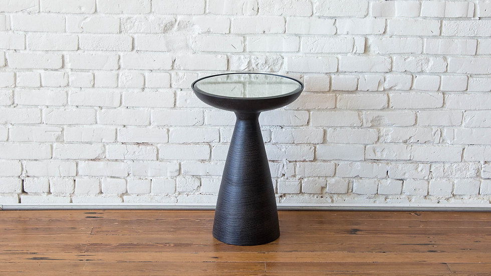 ISLA PEDESTAL TABLE - BRUSHED BRONZE