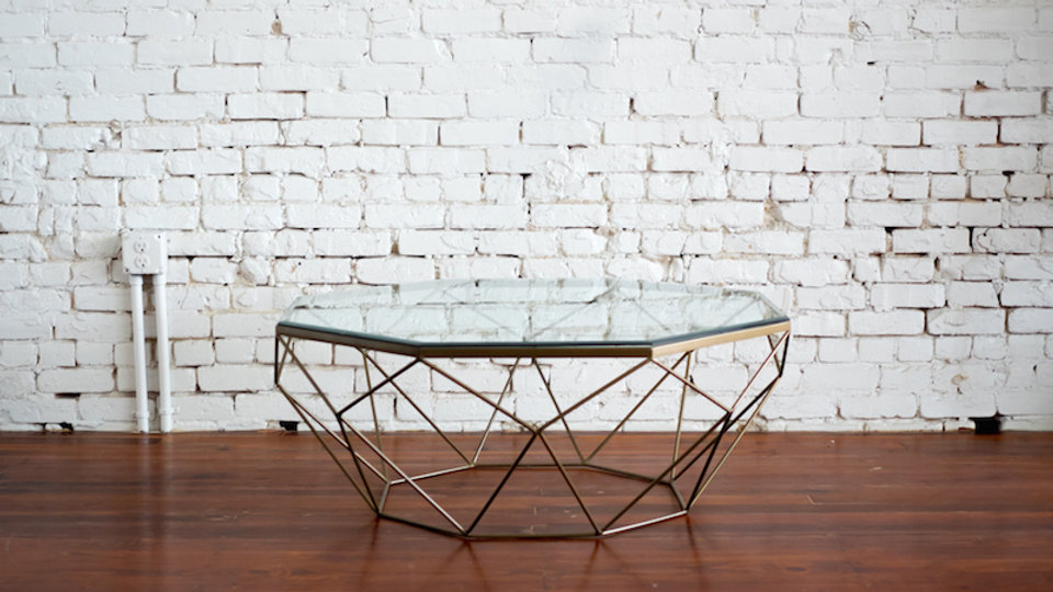 GEOMETRIC COFFEE TABLE | Now available at Birch and Brass