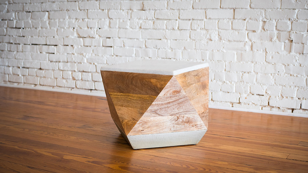 JADE DRUM TABLE   Now available at Birch and Brass