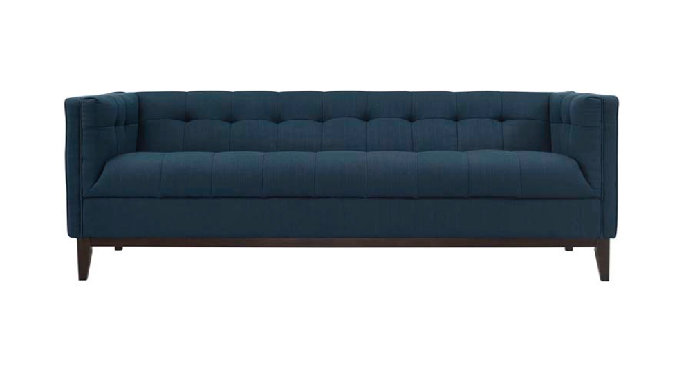 AMOS SOFA - BLUE | Now available at Birch and Brass