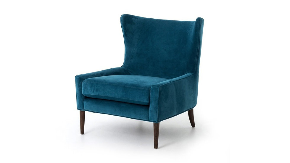 CASSIDY WING CHAIR -  BAYOU BLUE